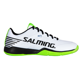 SALMING VIPER 5 MEN WHITE/BLACK/GREEN EUR 44 2/3 - 28.5 CM