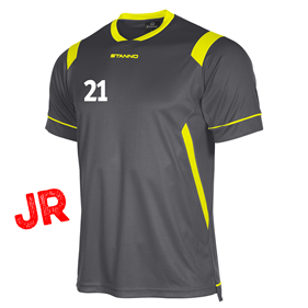 STANNO AREZZO TRÖJA ANTHRACITE-NEON YELLOW JR 128 CL