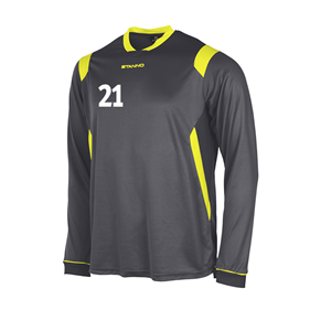 STANNO AREZZO TRÖJA LS ANTHRACITE-NEON YELLOW L