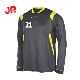 STANNO AREZZO TRÖJA LS JR ANTHRACITE-NEON YELLOW 128 CL