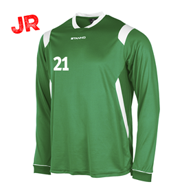 STANNO AREZZO TRÖJA LS JR GREEN-WHITE 128 CL