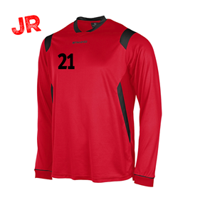 STANNO AREZZO TRÖJA LS JR RED-BLACK 128 CL