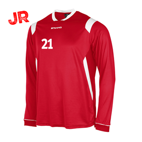 STANNO AREZZO TRÖJA LS JR RED-WHITE 128 CL