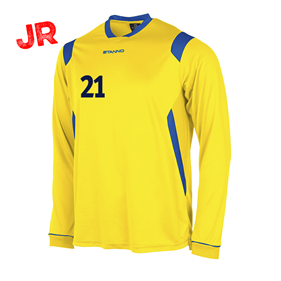 STANNO AREZZO TRÖJA LS JR YELLOW-ROYAL 128 CL