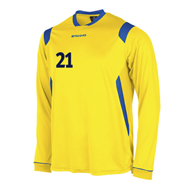 STANNO AREZZO TRÖJA LS YELLOW-ROYAL L