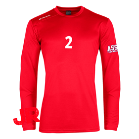 STANNO FIELD SHIRT LS JR RED 128 CL