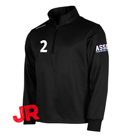 STANNO FIELD TOP HALF ZIP JR BLACK 128 CL