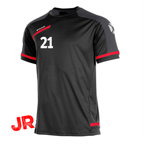 STANNO PRESTIGE T-SHIRT BLACK/RED JR 116 CL