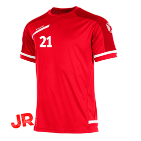 STANNO PRESTIGE T-SHIRT RED/WHITE JR 116 CL