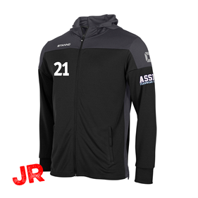 STANNO PRIDE FZ HOODED BLACK-GREY JR 116 CL