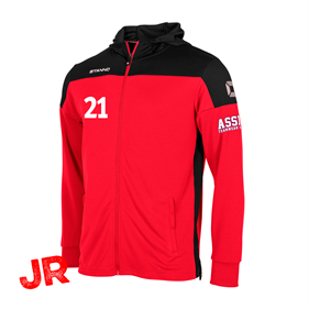 STANNO PRIDE FZ HOODED RED-BLACK JR 128 CL