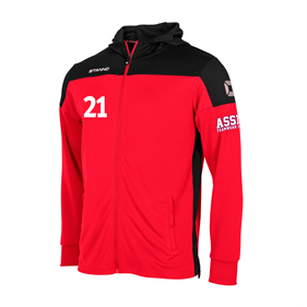 STANNO PRIDE FZ HOODED RED-BLACK L