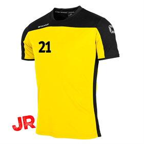 STANNO PRIDE T-SHIRT YELLOW-BLACK JR 116 CL