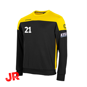 STANNO PRIDE TOP ROUND NECK BLACK-YELLOW JR 116 CL