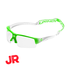 UNIHOC EYEWEAR VICTORY JUNIOR NEON GREEN/WHITE