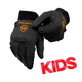 UNIHOC GOALIE GLOVES PACKER BLACK KIDS