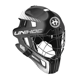 UNIHOC GOALIE MASK INFERNO 66 BLACK/WHITE