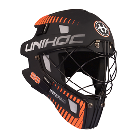 UNIHOC GOALIE MASK UNIHOC INFERNO 66 BLACK/NEON ORANGE