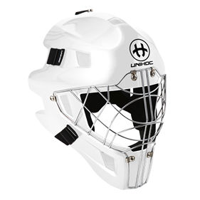 UNIHOC GOALIE MASK OPTIMA 66 ALL WHITE