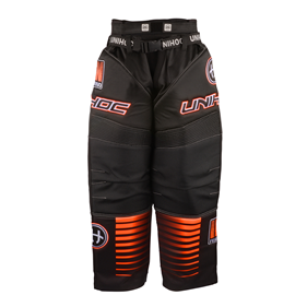 UNIHOC GOALIE PANTS INFERNO BLACK/NEON ORANGE L