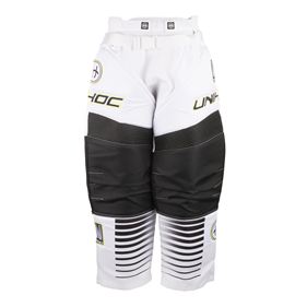 UNIHOC GOALIE PANTS INFERNO WHITE/BLACK L