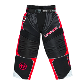UNIHOC GOALIE PANTS OPTIMA BLACK/NEON RED XS