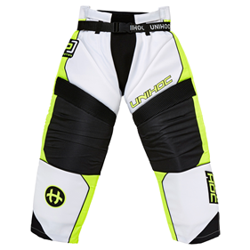 UNIHOC GOALIE PANTS OPTIMA WHITE/NEON YELLOW L