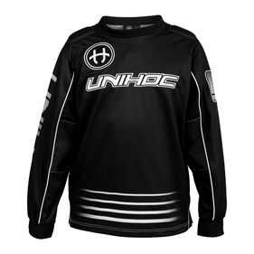 UNIHOC GOALIE SWEATER INFERNO BLACK L