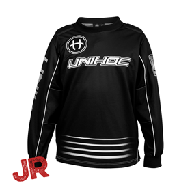 UNIHOC GOALIE SWEATER INFERNO JR BLACK 140 CL