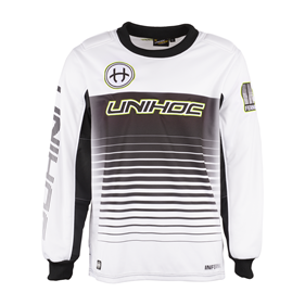 UNIHOC GOALIE SWEATER INFERNO WHITE/BLACK L