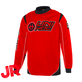 UNIHOC GOALIE SWEATER OPTIMA JR NEON RED/BLACK 140CL