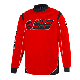 UNIHOC GOALIE SWEATER OPTIMA NEON RED/BLACK XS