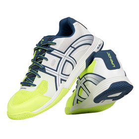 UNIHOC U3 ELITE MEN WHITE/BLUE/YELLOW EUR 39 - 24.5 CM