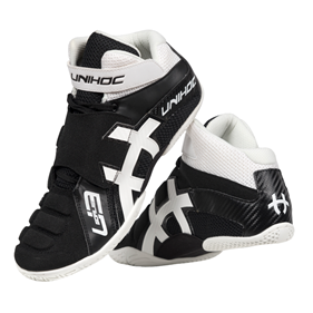 UNIHOC U3 GOALIE BLACK/WHITE EUR 39 - 24 CM