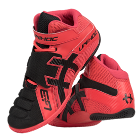 UNIHOC U3 GOALIE NEON RED/BLACK EUR 39 - 24 CM
