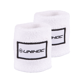 UNIHOC WRISTBAND TERRY 2-PACK WHITE/BLACK