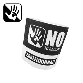 ZONE CAPTAIN BAND BADGE NO TO RACISM BLACK/WHITE