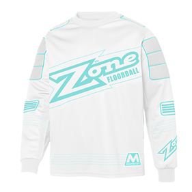 ZONE GOALIE SWEATER MONSTER WHITE/BLUE XXL