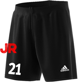 ADIDAS PARMA JR SHORTS BLACK/WHITE 116 CL