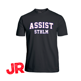 ASSIST STHLM FUNCTIONAL TEE JR BLACK 120 CL