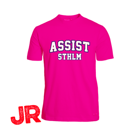 ASSIST STHLM FUNCTIONAL TEE JR PINK 140 CL