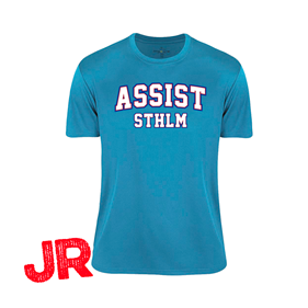 ASSIST STHLM FUNCTIONAL TEE JR TURQUOISE 120 CL