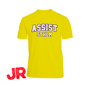 ASSIST STHLM FUNCTIONAL TEE JR YELLOW 120 CL