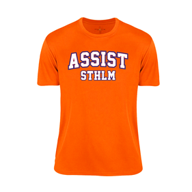 ASSIST STHLM FUNCTIONAL TEE ORANGE L