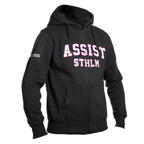 ASSIST STHLM ZIP HOOD BLACK L
