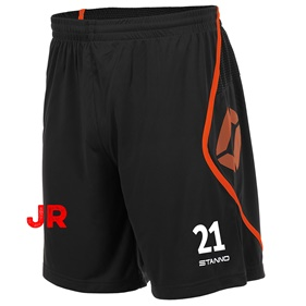 STANNO PISA SHORT JR BLACK-SHOCKING ORANGE 152 CL