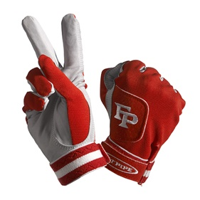 FATPIPE GK-GLOVES WITH LEATHER PALM RED XS