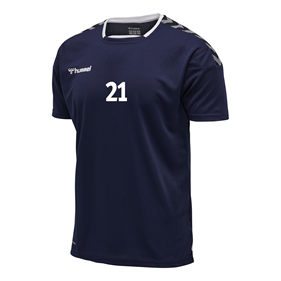HUMMEL AUTHENTIC POLY JERSEY SS MARINE L