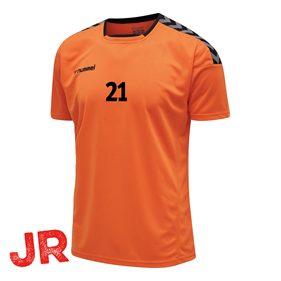 HUMMEL AUTHENTIC POLY JERSEY SS TANGERINE JR 116 CL