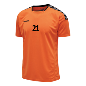 HUMMEL AUTHENTIC POLY JERSEY SS TANGERINE L